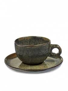 Bilde av INDI GREY CAPPUCCINO CUP WITH UNDER PLATE