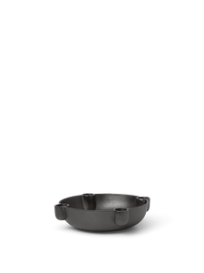 Bilde av Bowl Candle Holder - Blackened Aluminium Medium